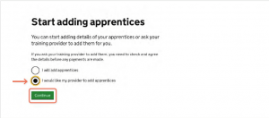 add an apprentice to your levy account